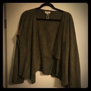 Forest green suede boho jacket